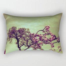 Redscale Blossom Rectangular Pillow