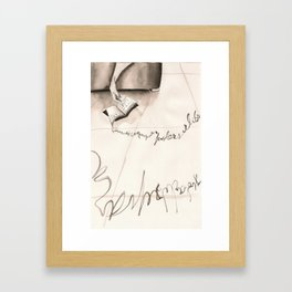 Sleeping Letters  Framed Art Print