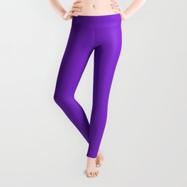Solid Dark Purple Violet Color Leggings