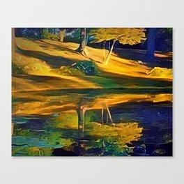 Upton Cemetery Pond Canvas Print