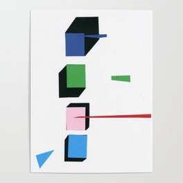 Squares in line Poster