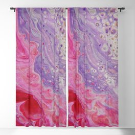 Fluid Nature - Colliding Pastels - Pink Lilac Abstract Art Blackout Curtain