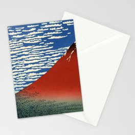 """Hokusai (1760–1849) """"Fuji, Mountains in clear Weather (South Wind, Clear Sky)(Red Fuji)"""" Stationery Cards"""