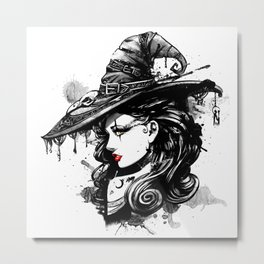 Gothic Witch Metal Print