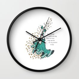 Imaginary Friends Are The Best Friends Wall Clock