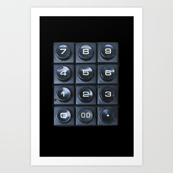 Number pad Art Print
