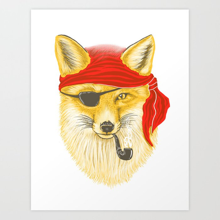 Foxy Pirate Art Print