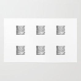 Black striped windows Rug