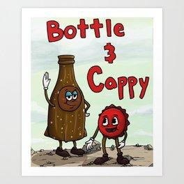 FALLOUT Bottle & Cappy Art Print