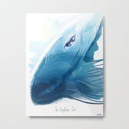 Kingfisher Girl Poster Metal Print