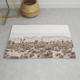Sierra Nevada Mojave // Desert Landscape Blush Cactus Mountain Range Las Vegas Photography Rug