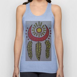 Feathers and sun Unisex Tank Top