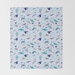 Ocean Animals Throw Blanket