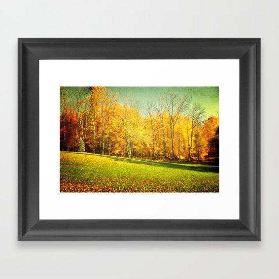 Golden Autumn in Ohio Framed Art Print