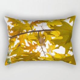 Golden oak leaves Rectangular Pillow