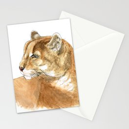 Sunbathing American Mountain Lion Stationery Cards