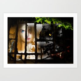 The Wolf at the Window Art Print