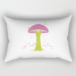 F is for Fungoid Rectangular Pillow