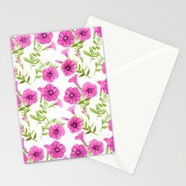 Petunia flowers pattern Stationery Cards
