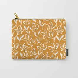 Inky Florals- Carry-All Pouch