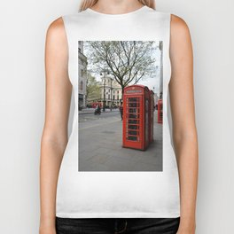London Phone Booth Biker Tank