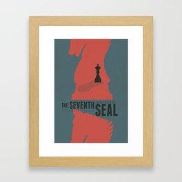 The Seventh Seal, Ingmar Bergman movie poster, swedish film, Max von Sydow Framed Art Print