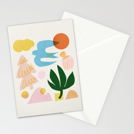 Abstraction_Nature_Beautiful_Day Stationery Cards
