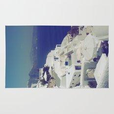 Santorini White & Blue Rug