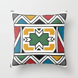African Tribal Pattern No. 166 Throw Pillow
