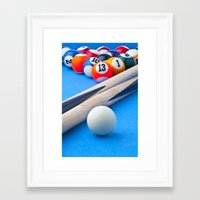 gaming Framed Art Prints featuring Gaming Table by Valerie Paterson