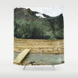 Icelandic Mountains Shower Curtain