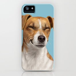 Smiling Dog (Jack Russell) iPhone Case