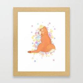 Judging shibbe (with stars) Framed Art Print