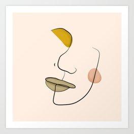 Le portrait d'Henriette Art Print