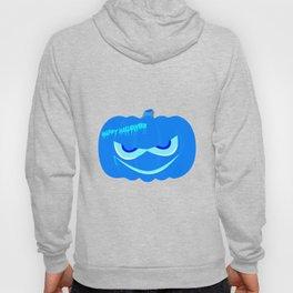 Evil Blue Halloween Pumpkin Hoody