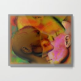 The Tension of the Skin Metal Print