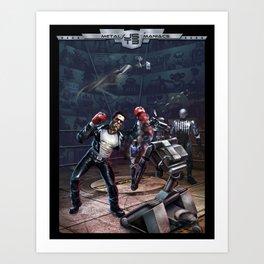 Robot Fight Art Print