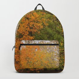 Leaning Into Autumn Backpack