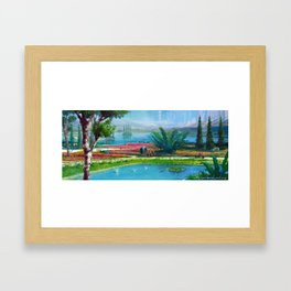 Gardens of Serenity Framed Art Print