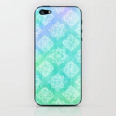Soft Doodle Pattern in White, Purple, Mint & Aqua iPhone & iPod Skin