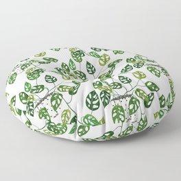 Monstera obliqua interior plant Floor Pillow