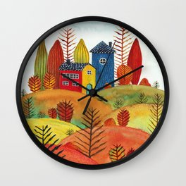 Colorful forest III Wall Clock
