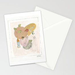 Phone Call Woman Stationery Cards