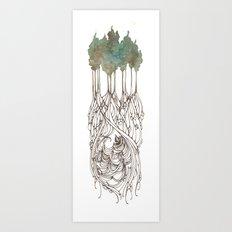 Run Deep Art Print