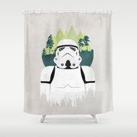 stormtrooper Shower Curtains featuring Stormtrooper by Robert Scheribel