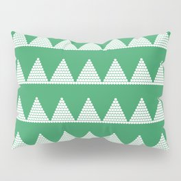 Modern Christmas Dots Triangles in Happy Green Pillow Sham