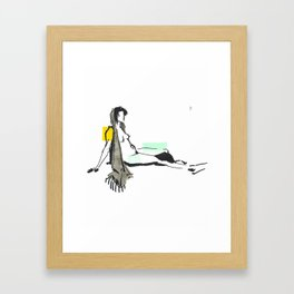 Seated Woman Framed Art Print