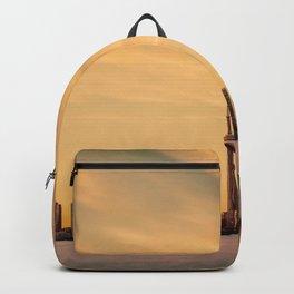 Golden Sunset Cityscape (Color) Backpack