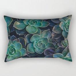 Succulent Plant - Dark Green Rectangular Pillow