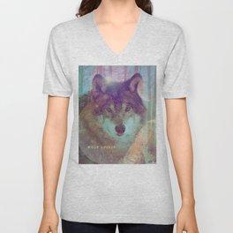 Spirit of the Wolf - Shamanic Power Animal Unisex V-Neck